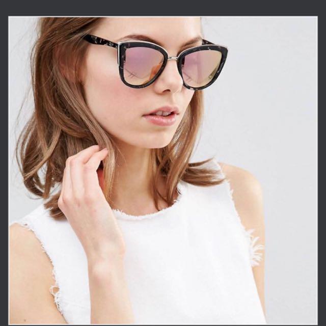 765661575ef4d Quay Australia My Girl Mirror Cat Eye Sunglasses (Pink Lens) Shay ...