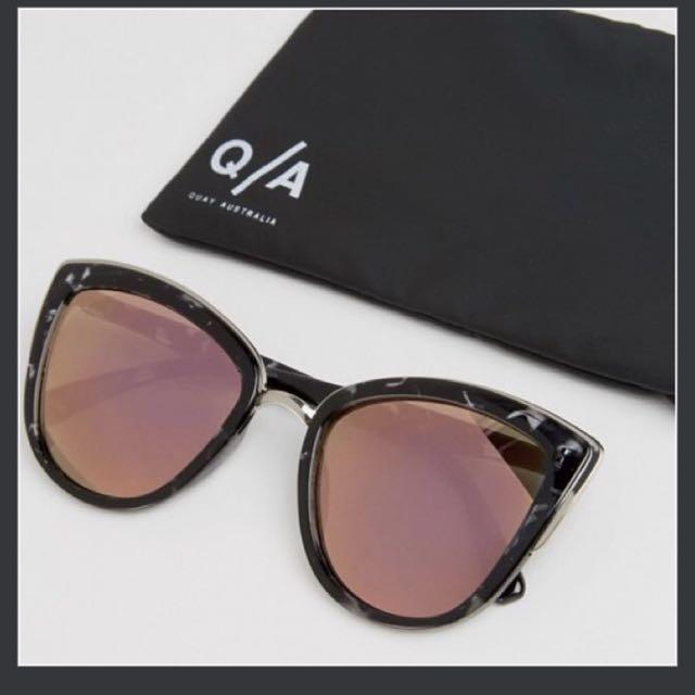572b9de9c7f5d Quay Australia My Girl Mirror Cat Eye Sunglasses (Pink Lens) Shay Mitchell