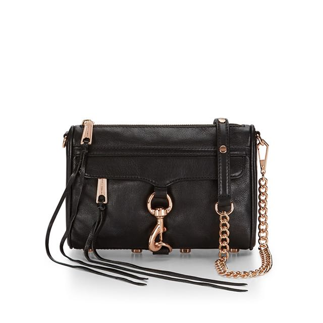 Rebecca Minkoff Mini M.A.C Genuine Leather  Rose Gold Hardware