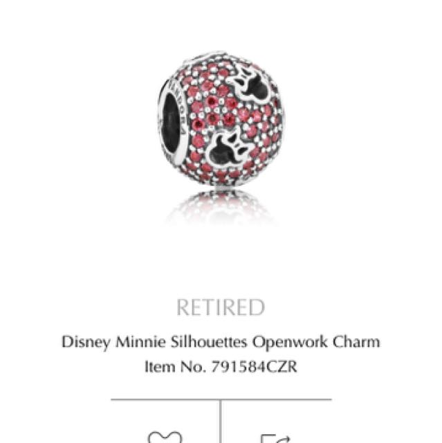 Retired Disney Openwork Pandora Charm