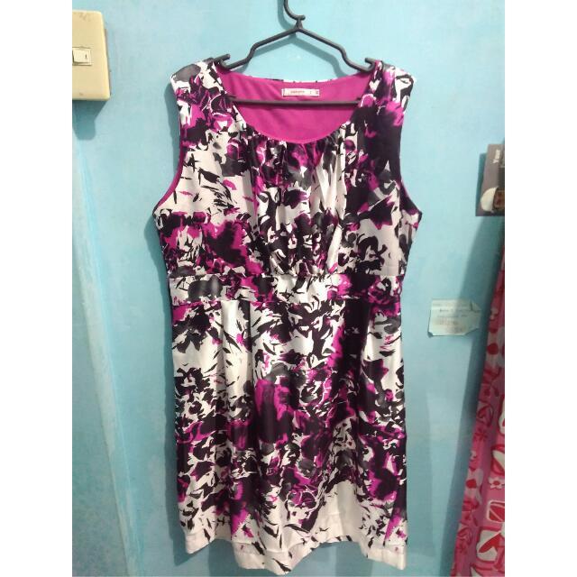 SAKAYA XL Black & Pink Floral Plus Size Dress