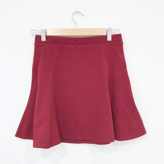 Silence + Noise Red Skirt
