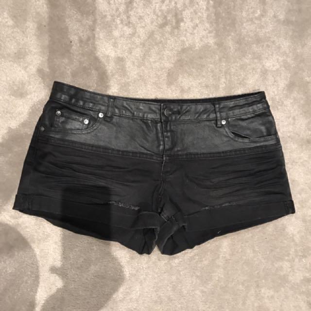 Sportsgirl Black Denim Shorts