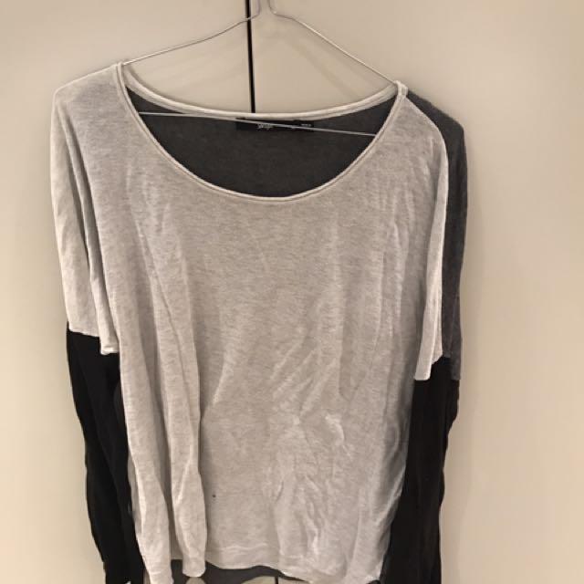 Sportsgirl Grey/black Knit Long sleeve