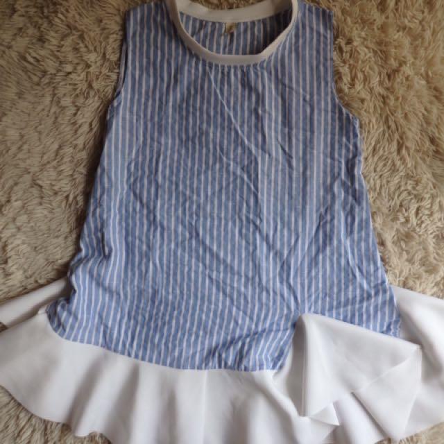 [ REPRICED ✨] - Stripe Blue Dress