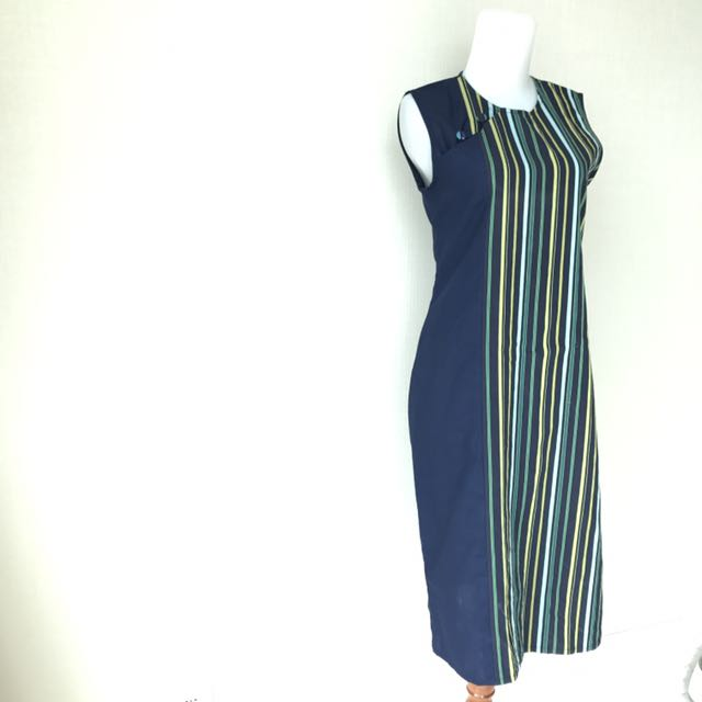 Stripes Navy Dress