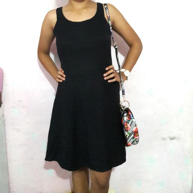SUGAR PLUM Black Skater Dress