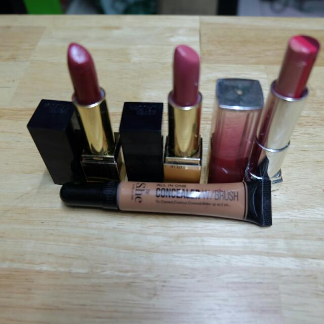 Take All! Authentic Estee Lauder Lipstick,maybelline And Free Concealer