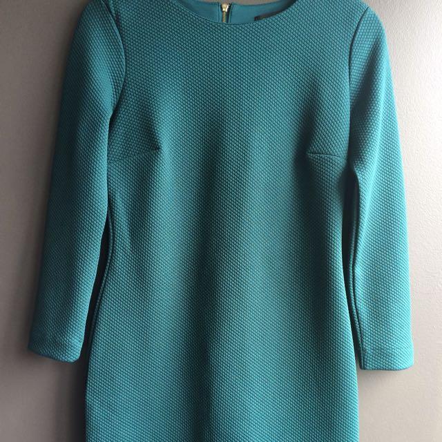 Textured Green Dress