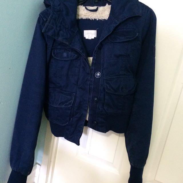 Thick Navy Blue Costa Blanca Jacket