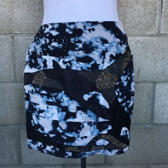 Tie Dye Style Silk Skirt