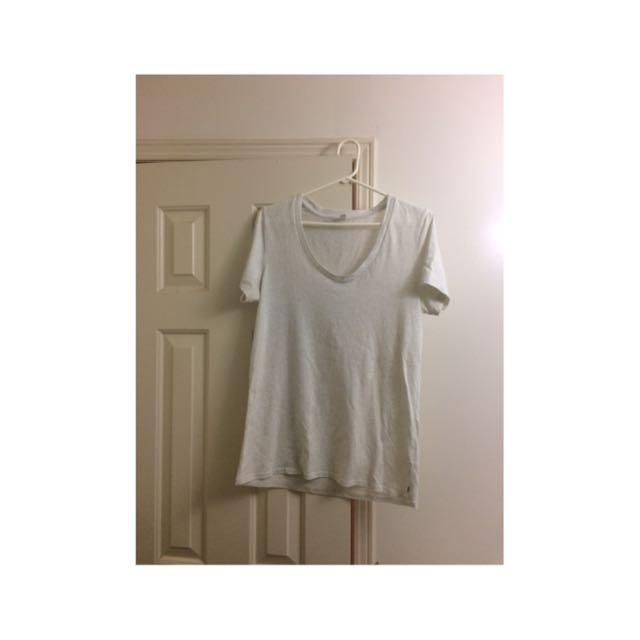 TNA Aritzia White T-shirt