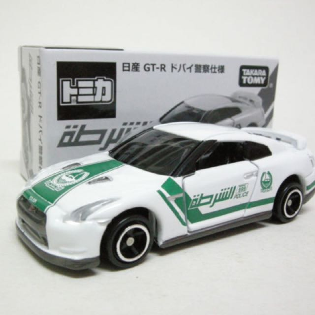 Tomica Ultra Rare Nissan GT-R Dubai Police, Toys & Games, Toys on ...