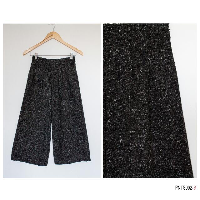 BlacK Tweed Culottes - SALE