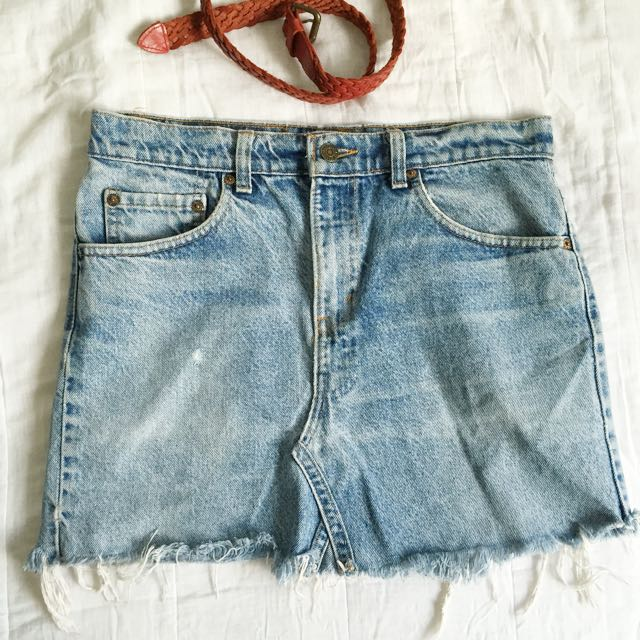 de8b4370d9 Urban Outfitters - Urban Renewal Authentic Levis distressed skirt ...
