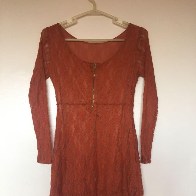 Vintage Long Sleeves Dress