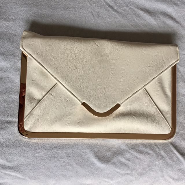 White Envelope Clutch with straps