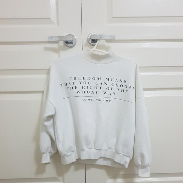 White High Neck Sweater