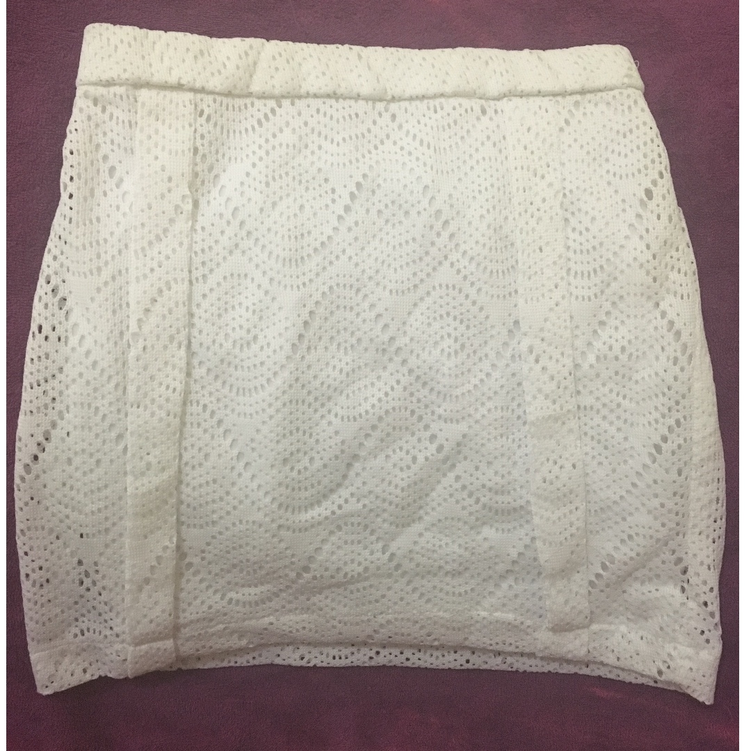 White Lace Skirt by Gaudi