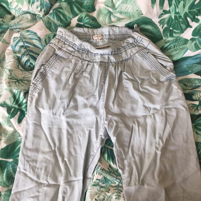 Wilfred High Waisted Light Wash Pants