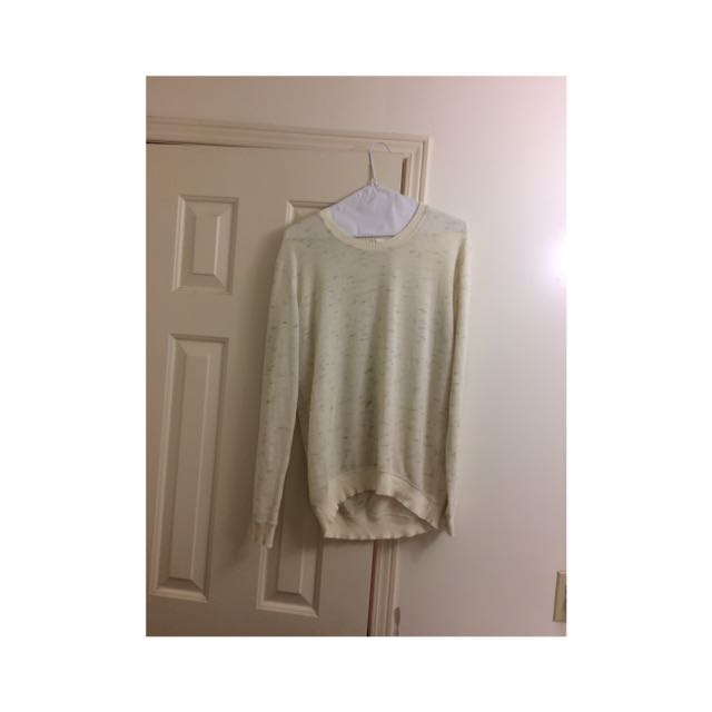 Wilfred White Grey Sweater (small)