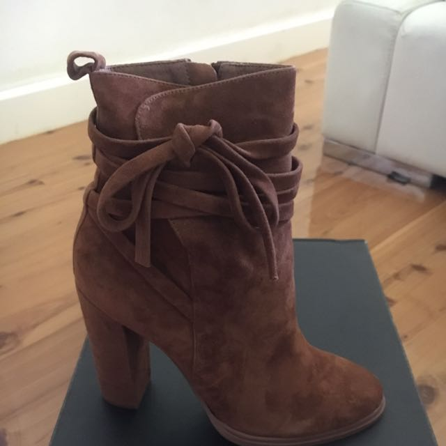 Windsor Smith Brown Leather Suede Ankle Boots