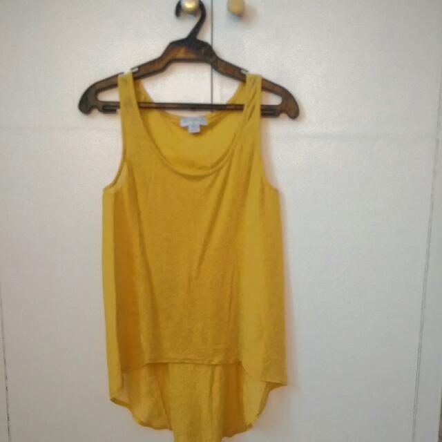 Cotton On Yellow Sleeveless Top