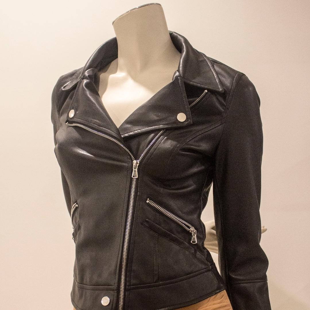 Zara Faux Black Leather Jacket Size S