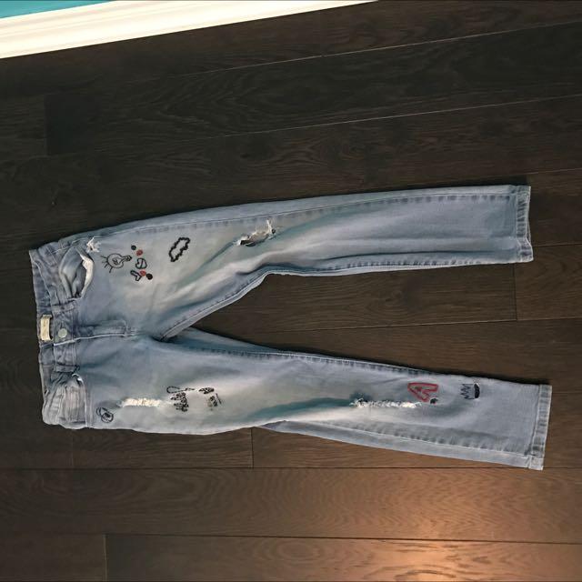Zara Girls Jeans 11/12