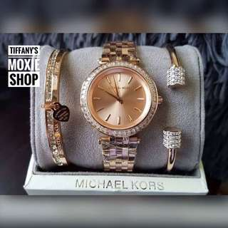 MK Authentic Watch Set With Bangles