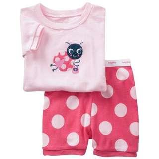 "(BG 0013) New Baby Gap Kid Pyjamas ""Ladybird"" For 2 Yrs"