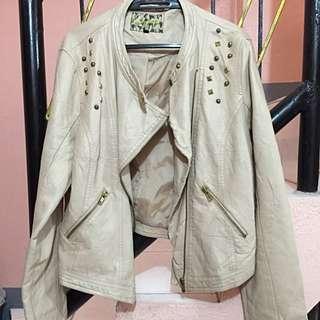 Pale Pink Leatherette Jacket