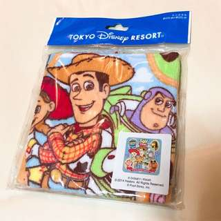 東京迪士尼 玩具總動員 小方巾 毛巾 手帕