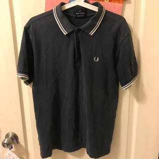 Fred Perry 經典月桂冠 藍 Size:s