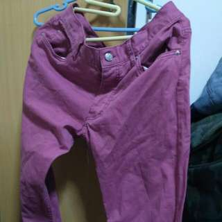 H&M Maroon Slim Fit Chino Pants Size 29