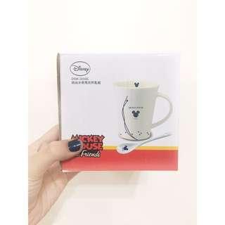 [正品]Disney 迪士尼 米奇 馬克杯 附湯匙及外盒