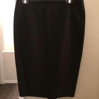 Elizabeth & James High Waisted Black Pencil Skirt
