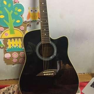 黑色木吉他