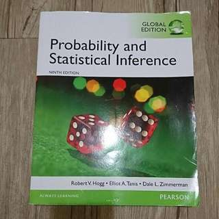 Probability and Statistical Inference Ninth edition 9版 9/e  Robert V. Hogg Elliot A. Tanis Dale L. Zimmerman 出版Pearson