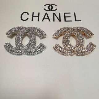 Chanel Studded Brooch