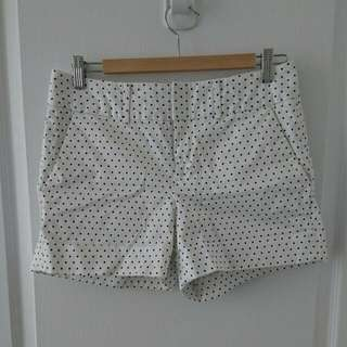 Polka Dot Cotton Shorts Size 6 Club Monaco