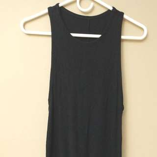 Zara Tank Top Black Dress