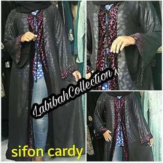 abaya sifon cardi blink