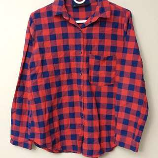 Zara Basic Red Flannel
