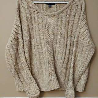 Over Sized Beige Sweater