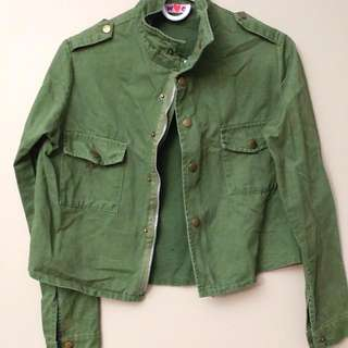 Olive Green Navy Jacket