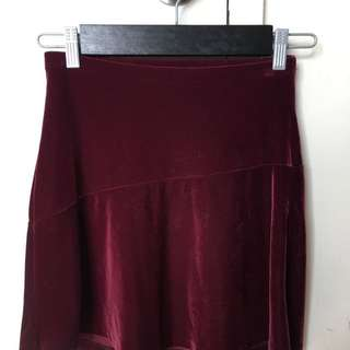 OLD NAVY | Velvet Skater Skirt