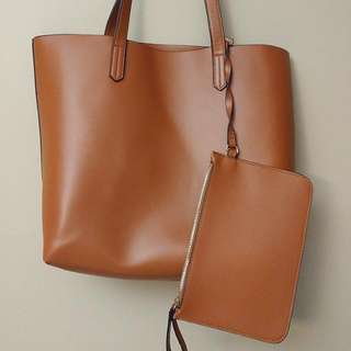 H&M Brown Tote Bag