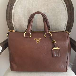 Auth Prada Satchel W/ Strap. Made In Italy 9.5/10