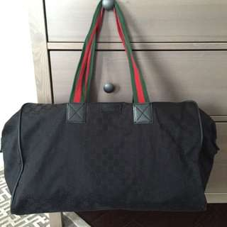 100% Auth Gucci Tote Duffle Bag Made In Italy